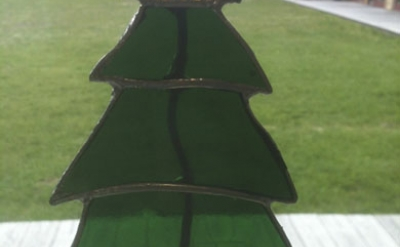 WS Glass Stained Glass Christmas Tree