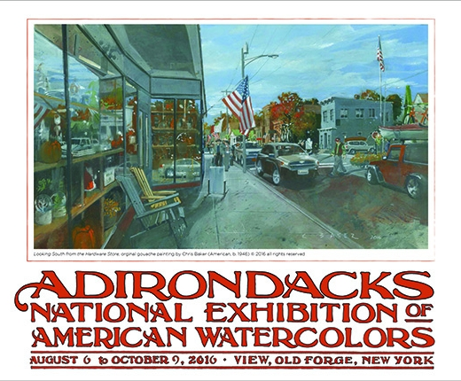 Christopher Baker - 2016 Adirondack National Exhibition of American Watercolors Poster