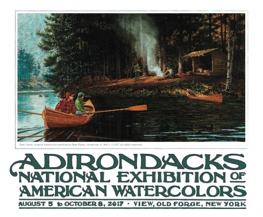 2017 Adirondacks National Exhibition of American Watercolors Poster
