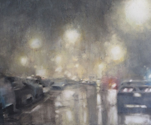 Soft Edge Expressionism - Weintraub - Rainy Night