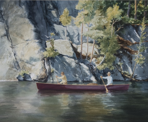 """Along the Granite Cliff"" by Jan Palmer"