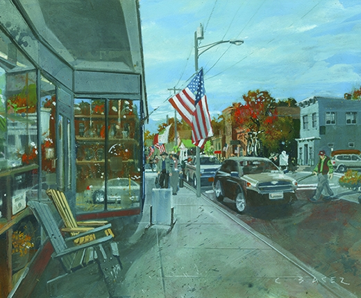 Christopher Baker - Looking South from the Hardware Store