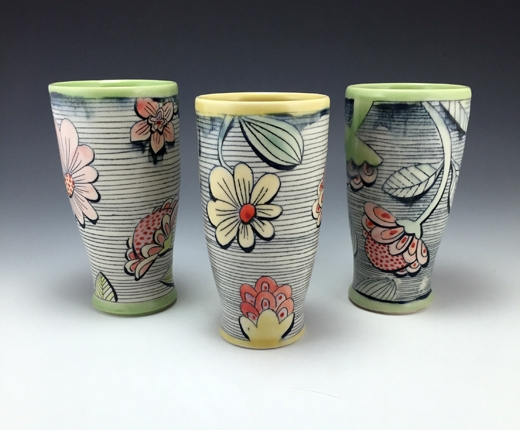 Floral Tumblers-Chandra DeBuse