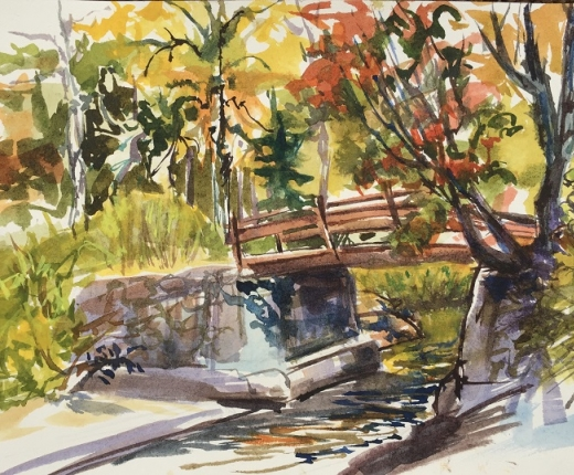 """Bridge on Big Woodhull Creek"" by Diane Davis"