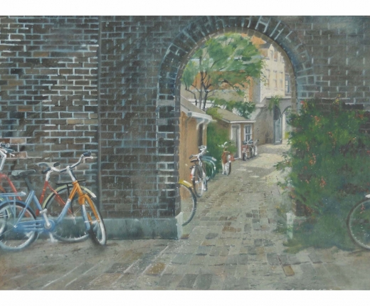 Entry with Bicycles by Chris Baker