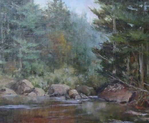 Moose River by J. Soprano - featured artwork from 2017 Plein Air Auction