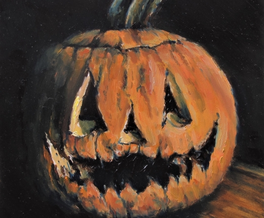 Portrait of a Rotting Jack-O-Lantern by Greg Klein
