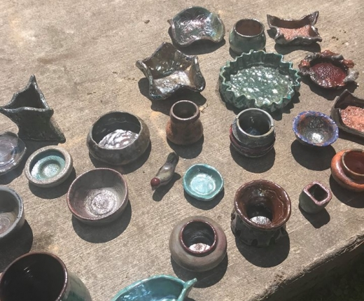 Raku Pottery that will be featured in the show